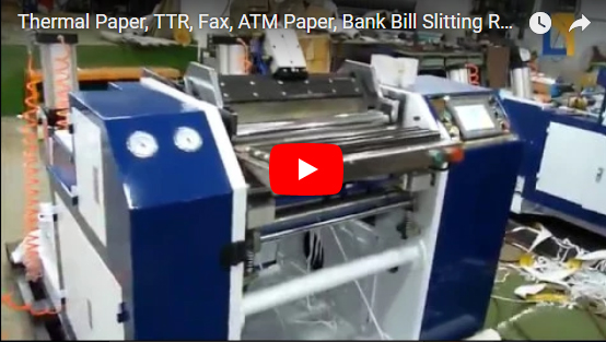 HC-T Thermal Paper Slitting Machine for TTR, Fax, ATM Paper, Bank Bill