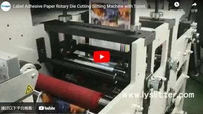 Label Adhesive Paper Rotary Die Cutting Slitting Machine with Turret